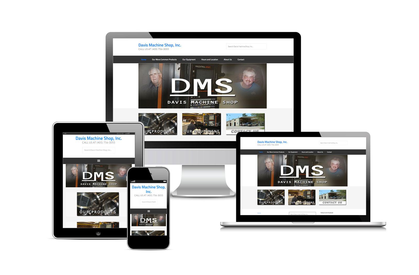 Davis Machine Shop Site Designed by Striped Ape Digital Media