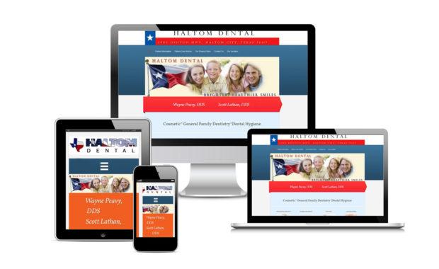 Haltom Dental Official Website Designed By Eric Alexander and Striped Ape Digital Media