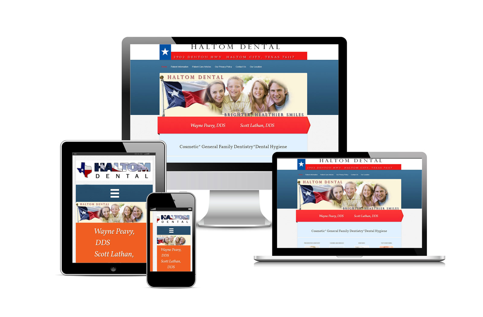Haltom Dental Official Website Designed By Eric Alexander and Striped Ape Digital Media