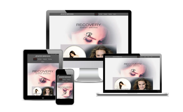 Jenifer Brening Official Website Designed By Eric Alexander and Striped Ape Digital Media