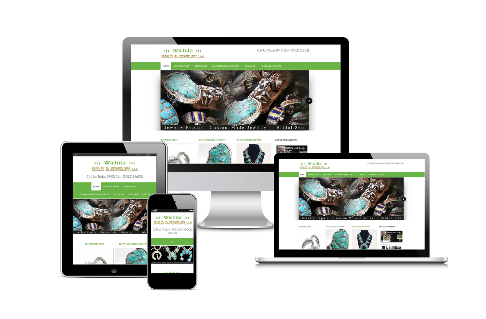 Wichita Gold and Jewelry Site Designed by Striped Ape Digital Media