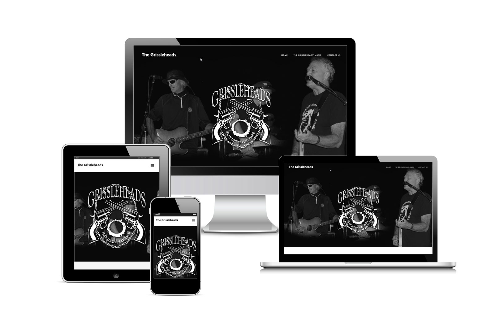 The Grissleheads Official Website built by Striped Ape Digital Media in Lawton, OK portfolio image.