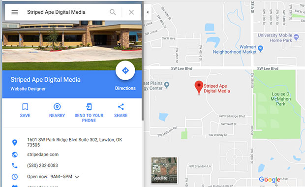 Striped Ape Digital Media can optimize your Google My Business Listing article image